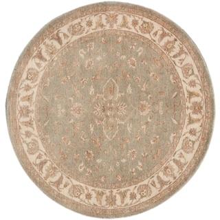 ecarpetgallery Hand-Knotted Peshawar Oushak Blue Wool Rug (6'0 x 6'0)