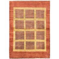 ecarpetgallery Hand-Knotted Peshawar Ziegler Brown, Yellow Wool Rug (4'0 x 5'8)