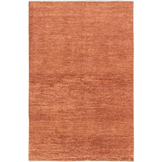 ecarpetgallery Hand-Knotted Peshawar Ziegler Brown Wool Rug (5'2 x 7'10)