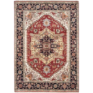 ecarpetgallery Hand-Knotted Serapi Heritage Red Wool Rug (10'0 x 14'0)