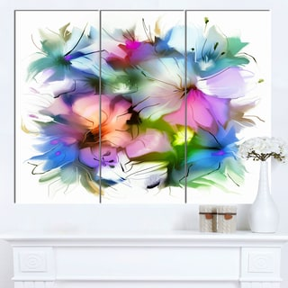 DesignArt 'Watercolor Floral Bouquet' Extra Large Floral Wall Art