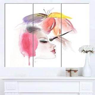 Designart 'Eye Lash Face Woman Cosmetic' Portrait Canvas Wall Art Print