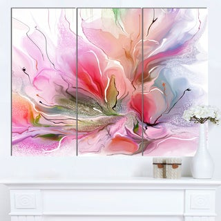 Designart 'Lovely Painted Floral Design' Extra Large Floral Wall Art