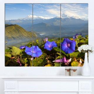 Designart 'Stunning Mountain Terrain with Flowers' Landscape Artwork Canvas Print