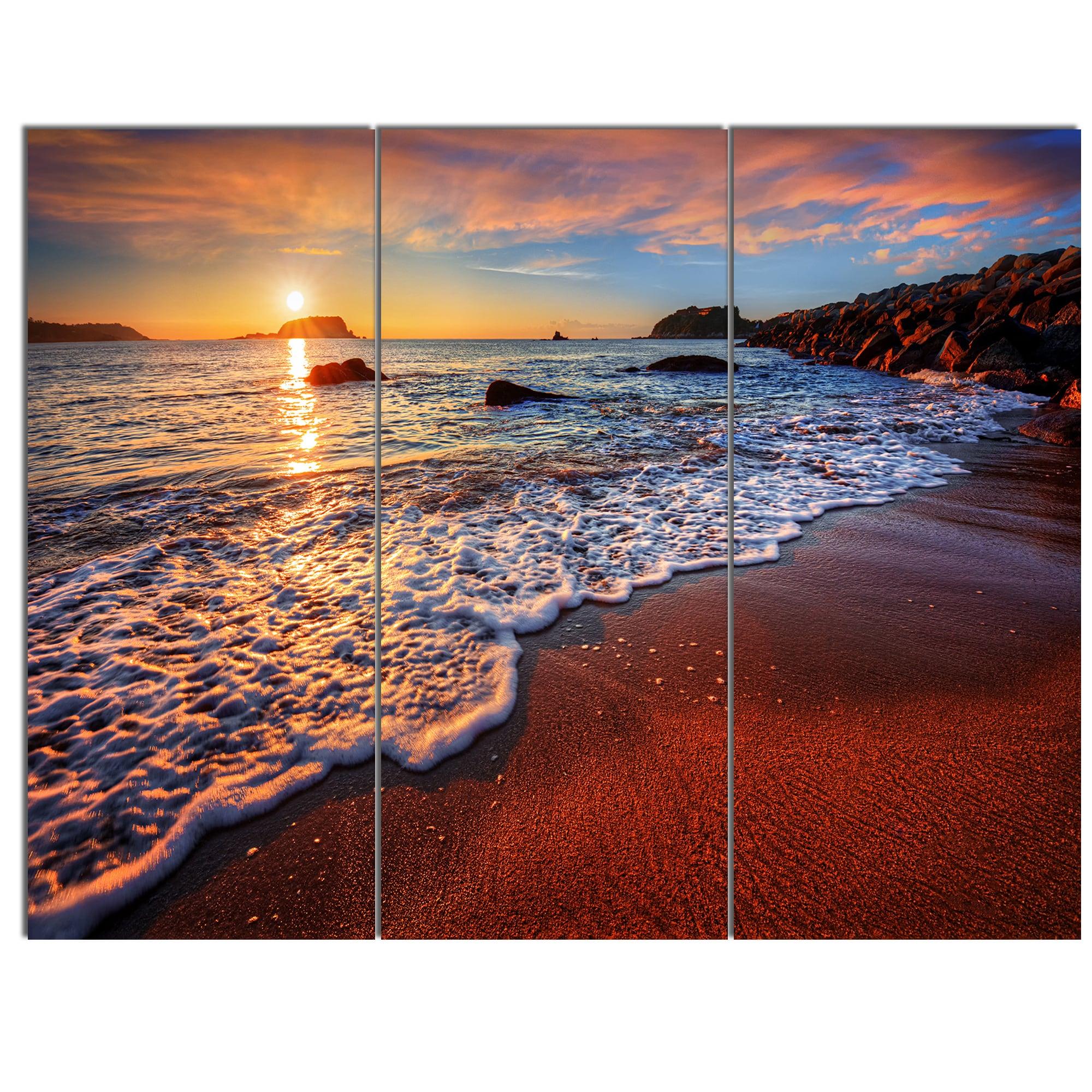 CANVAS ART PRINT STUNNING BEACH LANDSCAPE SEASCAPE A1