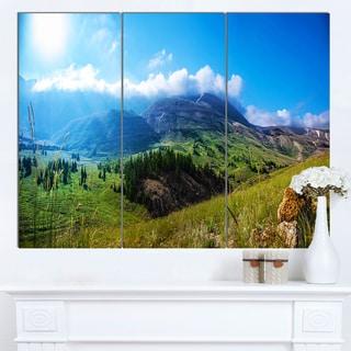 Designart 'Mountain Landscape Panorama' Landscape Artwork Canvas Print