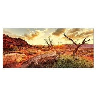 Designart 'Colorful Fall American Prairie' Oversized Landscape Photography on Aluminium