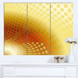 Designart 'Golden Fractal Abstract Pattern' Large Abstract Canvas Artwork