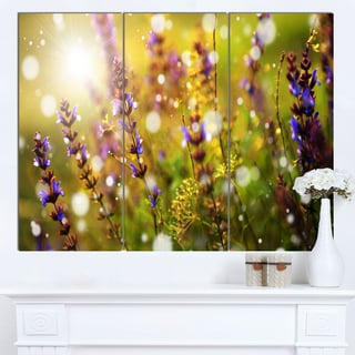 Designart 'Beautiful Purple Wild Flowers' Large Flower Canvas Art Print