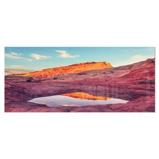 Designart 'Lake in National Monument Park' Oversized Landscape Photography on Aluminium