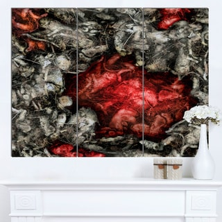 Designart 'Abstract Floral Texture Background' Large Abstract Canvas Artwork