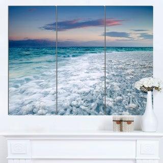 Designart 'Beautiful Sunrise at Dead Sea' Modern Seashore Canvas Wall Art Print (As Is Item)