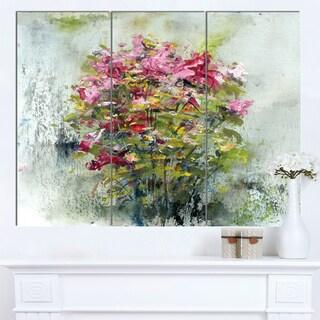 Designart 'Bouquets Of Roses Painting Art' Floral Canvas Artwork