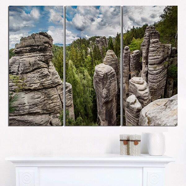 Shop Beautiful Rocks in Bohemian Paradise - Landscape Glossy Metal ...