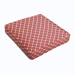 Red Gold Berry Square Cushion - Corded