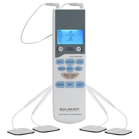 Belmint TENS Unit Electronic Pulse Massager - White