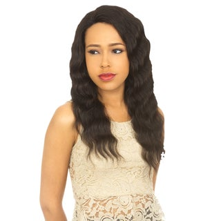 Remi 100% Human Hair Brazilian Virgin Natural Black Lace-Front Wig