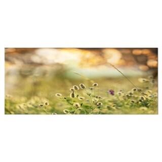 Designart 'Little Summer Flowers in Meadow' Large Flower Metal Wall Art