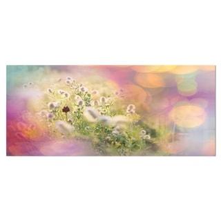 Designart 'Cute Little Summer Flowers' Large Flower Metal Wall Art
