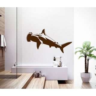 Shark Ocean Wall Decal Vinyl Stickers Decals Animal Wall Vinyl Sticker Decal size 22x35 Color Black
