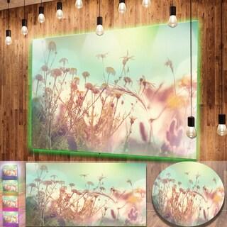Designart 'Summer Wild Flowers and Grass' Large Flower Metal Wall Art