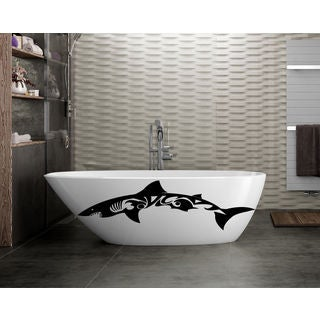 Shark Ocean Wall Decal Vinyl Stickers Decals Animal Wall Vinyl Sticker Decal size 44x70 Color Black