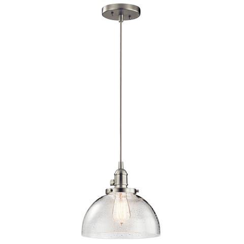 Carbon Loft Reno 1-light Brushed Nickel Half Orb Glass Mini Pendant