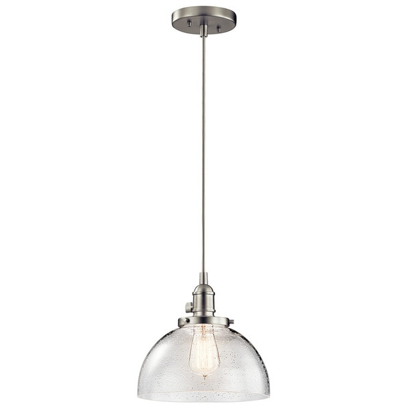 Brushed Nickel Kitchen Island Pendant Light Fixture Dining: Kichler Lighting Avery Collection 1-light Brushed Nickel