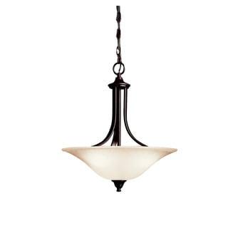 Kichler Lighting Dover Collection 3-light Chrome Pendant/Semi Flush Mount