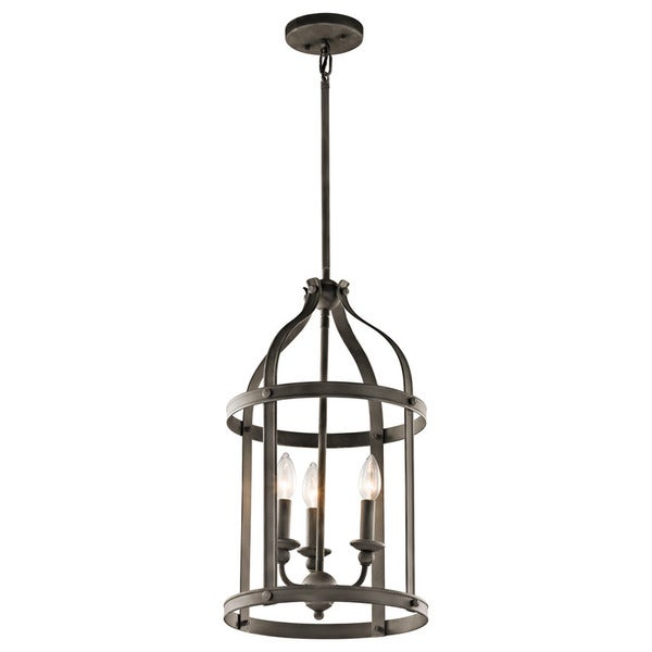 Kichler Lighting Steeplechase Collection 3-light Olde Bronze Pendant