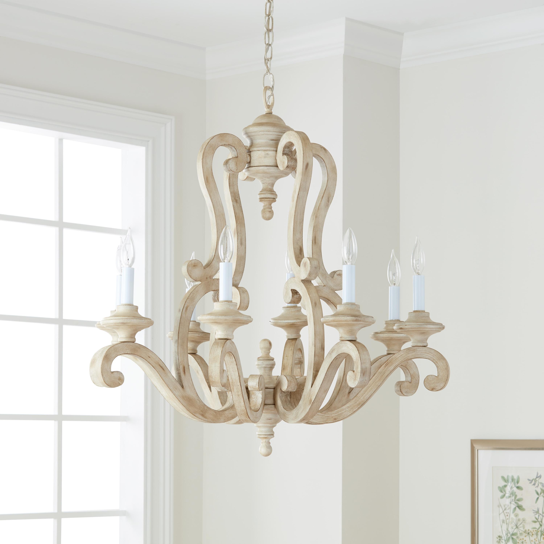 Kichler Lighting Hayman Bay Collection 8 Light Distressed Antique White Chandelier