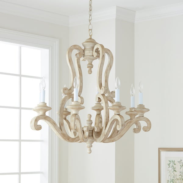 Kichler Lighting Hayman Bay Collection 8-light Distressed Antique White Chandelier