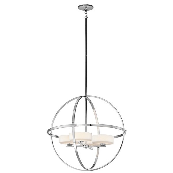 Kichler Lighting Olsay Collection 4-light Chrome Halogen Chandelier