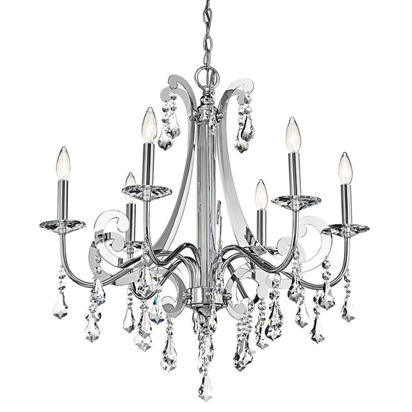 Kichler Lighting Leanora Collection 6-light Chrome Chandelier