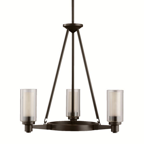 Kichler Lighting Circolo Collection 3-light Olde Bronze Chandelier