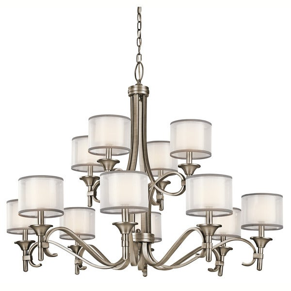 Kichler Lighting Lacey Collection 12-light Antique Pewter Chandelier