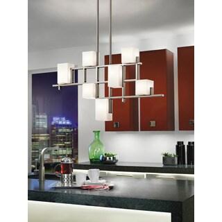 Kichler Lighting City Lights Collection 7-light Classic Pewter Halogen Linear Chandelier