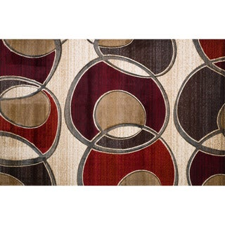 Christopher Knight Home Winona Alexis Red Geometric Runner Rug (2' x 7')