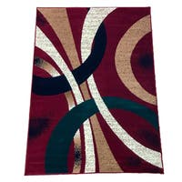 "LYKE Home Machine Made Polypropylene Red Area Rug - 7'10"" x 9'10"""
