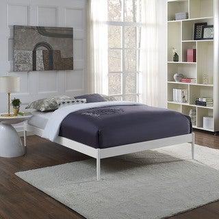 Elsie Stainless Steel Bed Frame in White