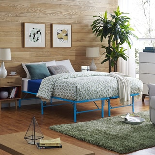 Horizon Stainless Steel Bed Frame in Light Blue