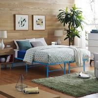 Horizon Stainless Steel Bed Frame in Light Blue