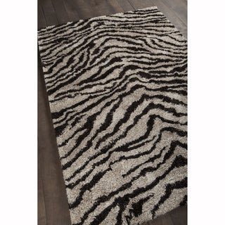 "Mandara Hand-Woven Contemporary Animal Pattern Shag Rug (3'8""x5'4"")"