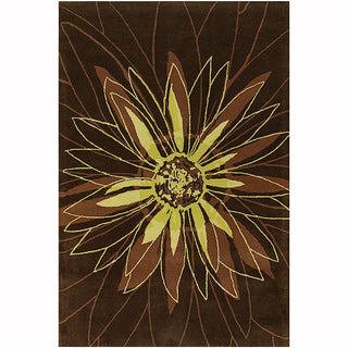 """Mandara Hand-Tufted Contemporary Graphic Pattern New Zealand Wool Rug (3'8""""x5'4"""")"""