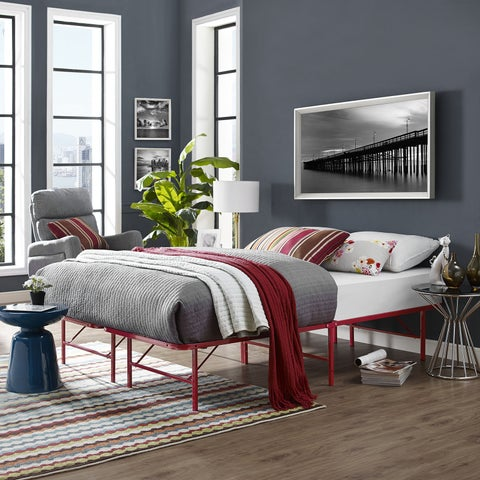 Horizon Red Stainless Steel Bed Frame