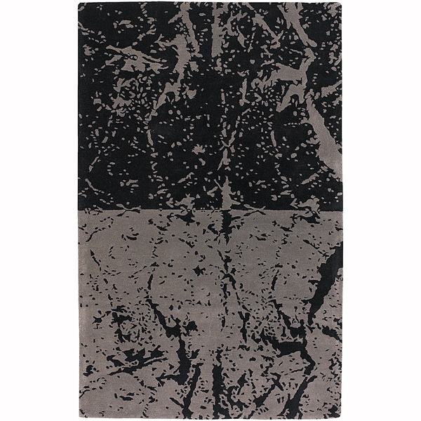 """Mandara Hand-Tufted Contemporary Abstract Pattern New Zealand Wool Rug (3'8""""x5'4"""")"""