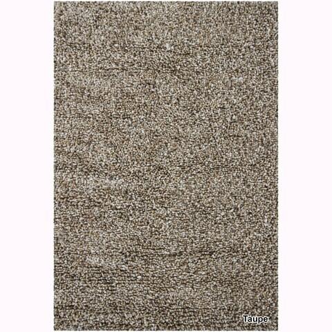 "Mandara Hand-Woven Contemporary Solid Pattern Shag Rug (3'8""x5'4"")"