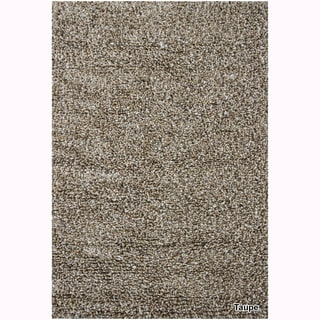 "Mandara Hand-Woven Contemporary Solid Pattern Shag Rug (3'8""x5'4"")"