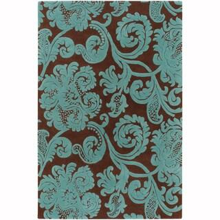 "Mandara Hand-Tufted Contemporary Ornamental Pattern New Zealand Wool Rug (3'8""x5'4"")"