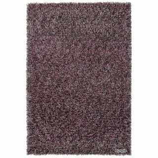 Mandara Hand-Woven Contemporary Abstract Pattern Shag Rug (4'x6')